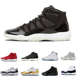 new arrival e81ca e7887 11 Gym Red Platinum Tint Basketball Shoes Prom Night Concord Space Jam Jams  Legend Gamma Blue 11s Cool Grey Bred Men Cap and Gown Sneakers