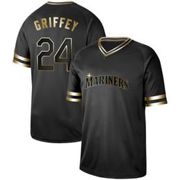 b0eb4f3fc73 Black ken griffey jersey online shopping - Mens Seattle Black Gold Ken  Griffey Jr Ichiro Suzuki