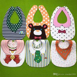 $enCountryForm.capitalKeyWord Australia - Baby Bibs Soft Baby Feeding Apron Cute Fox Burp Cloths Newborn Bandana Children Clothing Accessories Bibs 18 styles free shipping