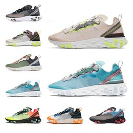 newest 8e31e 3549c React element 87 New Mens women running shoes sports sneaker top quality  Anthracite total orange Dark Grey Sail breathable fashion trainers