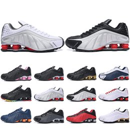 Bowling Shoes For Men Australia - Top Fashion Shox R4 OG Running Shoes For Men Women Zapatillas Hombre Breathable leather Mens Trainers Designer Athletic Sneakers US 5.5-12