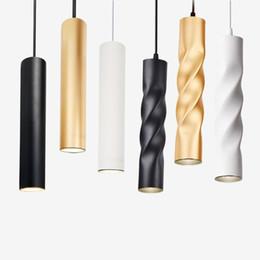 24v Pendant Australia - Pendant Lamp dimmable Lights Hanging lamp Kitchen Island Dining Room Shop Bar Counter Decoration Cylinder Pipe Kitchen Lights