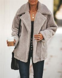 $enCountryForm.capitalKeyWord NZ - Oversized Winter Faux Fur Teddy Coat Women Black Warm Cashmere Fleece Jacket Ladies Casual Zip Up Outerwear Womens Jackets Coats