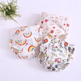 17 couleurs Pantalons bébé enfant en bas âge Formation 6 couches en coton lavable Changement bébé Nappy Couches Lavables culottes réutilisables EEA709 en Solde