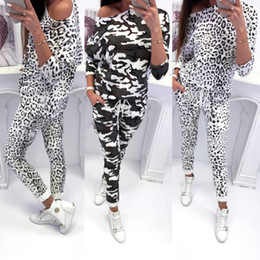 Discount long length tees - Fashion Women Gray 2PCS Tracksuits Tops Tee and Long Pants Sets Casual Lady Clothes Tracksuits S-XL