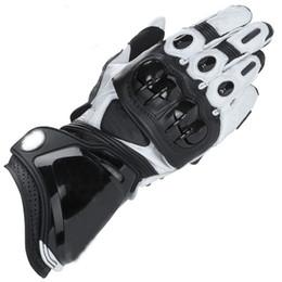 $enCountryForm.capitalKeyWord Australia - White Black Motorcycle Leather Moto PRO Long Gloves Racing Motorbike Gloves