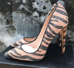 $enCountryForm.capitalKeyWord Australia - 19 brown Horse hair Women's High heeled shoes 8cm 10cm 12cm Cusp Fine heel Single shoes Big code 44 dress wedding Nightclub red bottom shoes