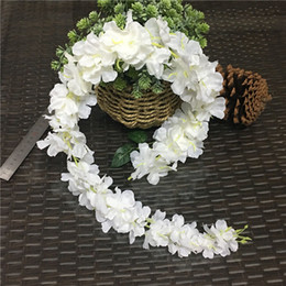 Wholesale 15pcs Artificial Cherry Blossom Flower Vine Sakura Rattan For Home Wedding Arch Decoration Wall Hanging Flores Wreath cm