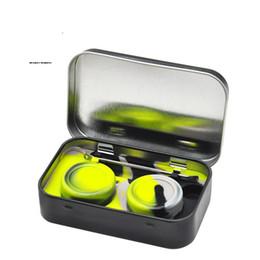 $enCountryForm.capitalKeyWord UK - Wax Oil Set 2pcs 5ML Non-Stick Silicone Containers Storage Stash Jar With Stainless Steel Wax Oil Spoon Dab Nail Metal Tin Box Case