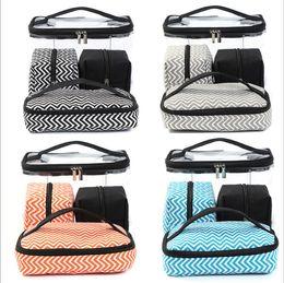 $enCountryForm.capitalKeyWord NZ - 36pcs Mix Color Multi-function Cosmetic Bag Transparent PVC Portable Combined four piece suit Wash bags Travelling handbag