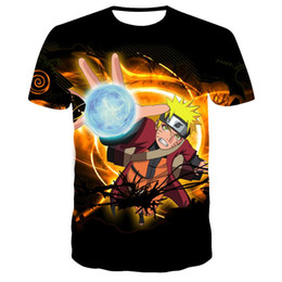 Wholesale cosplay naruto boy resale online - Naruto D T shirt Men Women Short Sleeve Print Naruto costume cosplay T shirts Summer Tee shirt Boys Girls Fashion Tops S XL