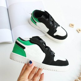 cheap designer shoes sale NZ - box kids Original brand fashion designer shoes sneakers j1 1s jd 1 high basketball shoes white black red blue grey cheap sale