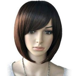straight bangs wig UK - WIG LL HOT Free Shipping >> Women Synthetic Hair Layer Bangs Cosplay Dancy Fancy Hair BoB Straight Wig