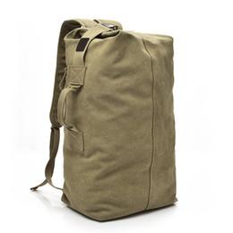 Khaki Backpack Sale Australia - School New Sale Solid 2019 Large Capacity Man Travel Bag Mountaineering Backpack Men Bags Canvas Bucket Shoulder Male Backpacks