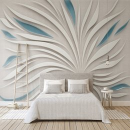 Wallpapers Fashion Style Beibehang Custom Photo Wallpaper Mural Wall Sticker Nordic Modern Relief Angel Wings Mosaic Stone Wall Tv Background Wall Painting Supplies & Wall Treatments