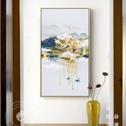chinese wall canvas prints NZ - Abstract Moutain Landscape Canvas Painting New Chinese Style Poster n Print For Living Room Bedroom Home Decor Wall Art Picture
