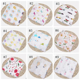 gauze towels NZ - Muslin Baby Blankets Cotton Newborn Swaddling Bath Gauze Infant Wrap Swaddles Kids Sleepsack Stroller Cover Play Mat 72 Designs DW1387