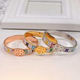 $enCountryForm.capitalKeyWord Australia - Hot sale Bangles Rivet 316 L Titanium Stainless Steel with genuine leather Bracelets Fashion Jewelry For Women bracelet gift