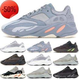 700 Nova V2 Static V1 Mauve Cinza Sólida 700 Wave Runner Designer de Corrida de Sapatos Kanye West 700 Das Mulheres Dos Homens de Calçados Esportivos Tênis 36-46 venda por atacado
