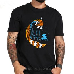 Long taiL t shirts online shopping - Tribal Red Long Tail T shirt men tattoo landscape bear Tee shirt short sleeve o neck printed t shirt