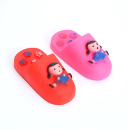 Pvc children sliPPers online shopping - PVC Doll Slipper Toys For Child Environment Friendly Decompression Pet Toy Wear Resistant Soundable Babouche Plaything Hot Selling mq M1