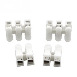 electrical terminals types 2019 - 10PCS CH2 CH3 Wire Connector 2 3 Position Press Type Butt Fast Electrical Cable Clamp Connection Terminal cheap electric