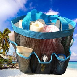 black swimming toys UK - Summer Beach Bag Women Handbag Mesh Swim Bag Small Storage Package Beach Toy Packing Totes For Women Kids