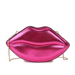 $enCountryForm.capitalKeyWord NZ - Fun Sexy Lips Style Shoulder Bag Handbag Women's Fashion Pu Day Clutch Bag Ladies Chain Purse Crossbody Mini Messenger Bag Flap