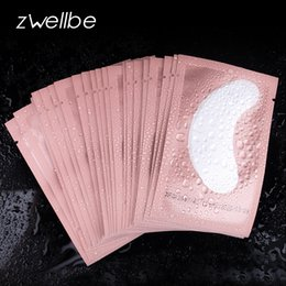 Patch Pad PaPers online shopping - 100 Pairs Pink Women Under Eye Pads Patches Eyelash Extension Eye Lash Paper Stickers Patches Application Make Up Tools