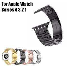 $enCountryForm.capitalKeyWord Australia - For Apple Watch Stainless Steel Band 38 40 42 44mm 4 Colors Adjustable Bracelet Smart Wacth Wrist Strap For iWatch 4 3 2 1 With Adapter
