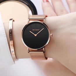Color Glasses Power Australia - Luxury Women Watches Simple Ladies Steel Watch Rose Gold Elegant Minimalism Casual Black Female Waterproof Clock for Girl 2018 C19010301