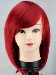 Anime wigs red online shopping - WIG Tempest Long sichuan yoshino Cosplay red Wig Anime Party Wigs