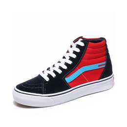 Lace Up Canvas Shoe NZ - Unisex Spring autumn New Women Shoes Fashion Sneakers Fashion Classic Canvas Casual Shoes Woman High-top Lace-up Size 35-44