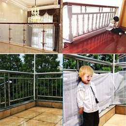 kids safety gates Canada - Large Size Safety 1st Railnet Net Child Guard Kids Baby Stair Balcony Deck Gate Doorways Mesh 200x75cm or 300X75cm