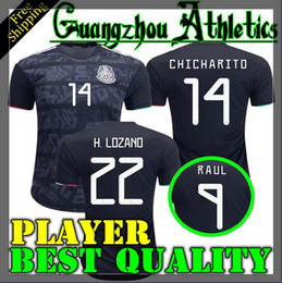 player soccer jerseys Canada - 2019 2020 Mexico Player version H.LOZANO H.HERRERA R.MARQUEZ CHICHARITO A.GUARDADO Soccer Jersey 19 20 Mexico national team football shirt