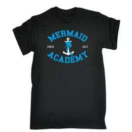 d55b8d693 Mermaid Academy University College Cute Funny T-SHIRT Birthday gift present  joke summer o neck tee, free shipping cheap tee,2019 hot tees