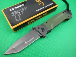 edc tactical pack NZ - Hot Sale! Factory Direct Browning DA35 Folding Knife Outdoor Survival Camping Hunting Knife Tactical Pocket Knives with Retail Box Packing