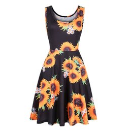 7d241ae31ef Dresses Amazon UK - Amazon Printed Dresses for Womens Wear in Europe and  America Summer Beach