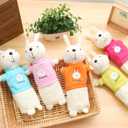 $enCountryForm.capitalKeyWord Australia - Cute Cartoon Kawaii Plush Pencil Case Creative Lovely Easter Rabbit Pen Bag for Kids Gift School Supplies Pencil Pouch Free shipping 847