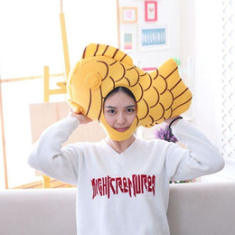 yellow fish costumes NZ - Unisex Yellow Plush Party Hats Fish Head Cosplay for Adult Children Party Halloween Costume Accessories Gifts Party Supplies SH190923