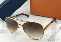 $enCountryForm.capitalKeyWord Australia - Metal Gold Attitude Pilot Sunglasses Brown Shaded Vintage Sun Glasses Men Designer Sunglasses UV400 lens New with Box