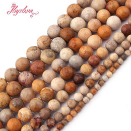 """Coral Beads Making Australia - 4,6,8,10mm Smooth Round Bead Coral Jades Agates Natural Stone Beads For DIY Necklace Bracelets Jewelry Making 15"""",Free Shipping"""