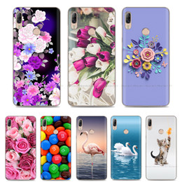 white rose painted red NZ - Soft TPU Case For Lenovo K5 Pro Case Back Cover Lady Painting Case Floral Phone Cases For Lenovo K 5 PRO Flower Cute Cat Coque