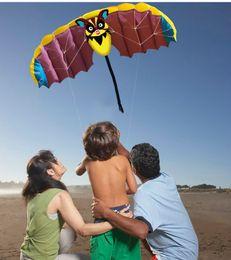 $enCountryForm.capitalKeyWord Australia - Carton 1.4M Bat Design Kites Soft Dual Line Stunt Sport Parafoil Kite 55-inch with Flying Tool Set
