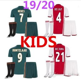 Delivery uniform online shopping - New Ajax kids kit Soccer Jersey Ajax away Customized KLAASSEN NOURIB free delivery football uniform