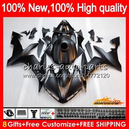 Discount fairing r1 white red Body For YAMAHA matte black YZF1000 YZF R 1 1000 CC YZF-1000 1000CC 63HC.13 YZF R1 04-06 YZF-R1 YZFR1 04 05 06 2004 2005 2006 Fairing kit