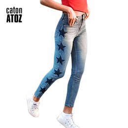 Jeans star pant new online shopping - catonATOZ New Women s Vintage Star Embroidery Jeans Stretch Denim Pants Female Skinny Trousers For Women