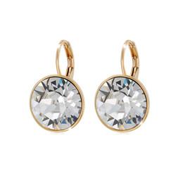 Calidad superior de la moda Bella diseñador Stud pendientes para mujeres hechas con Swarovski Elements Crystal Wedding Party Bijoux joyería regalo de Navidad en venta