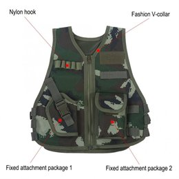triple gear Australia - Children Combat Vest Kids Camouflage Hunting Clothes CS Shooting Protection Gear Combat Training Hunting Tactical Waistcoat hot