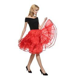 chiffon petticoats Canada - Fashion lady summer sexy 3 layer organza knee-length slim pleated skirt petticoat classic ballet prom tulle skirt